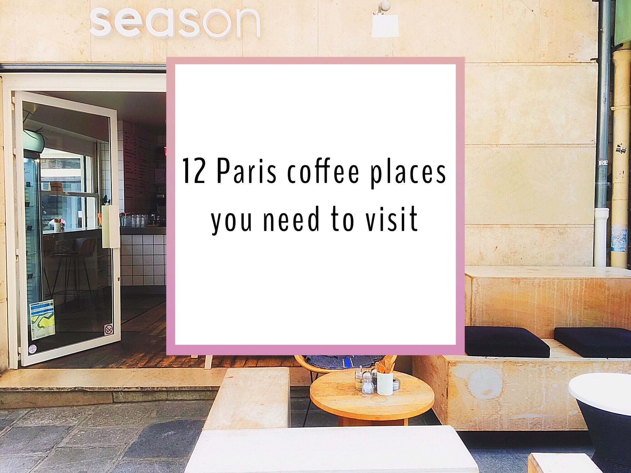 Paris coffee places