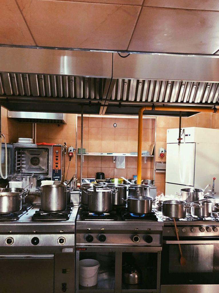 Kitchen view at the Bambino Bar Warsaw