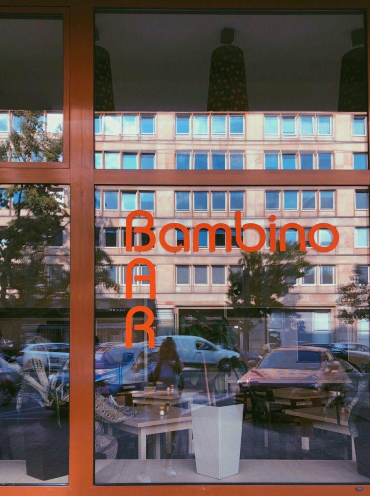 Outside of the Bambino Bar Warsaw