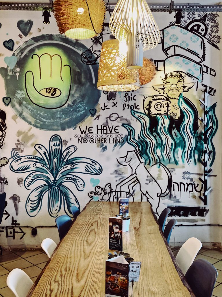 Interior of Tel Aviv Urban Food Warsaw
