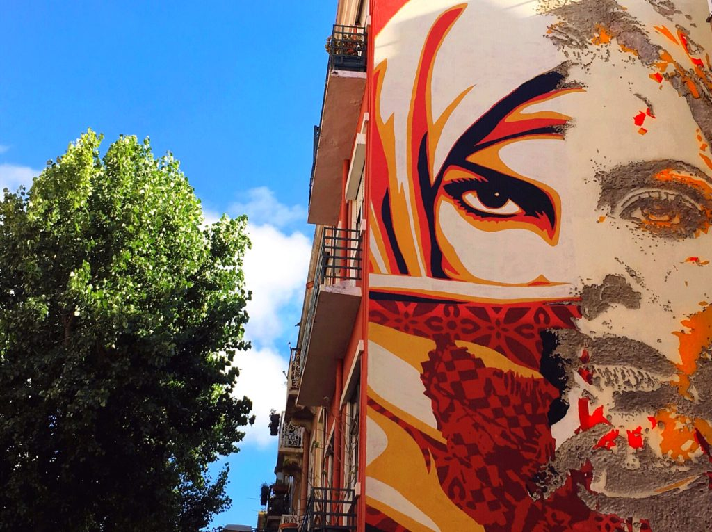Art by Shepard Fairey and Vhils