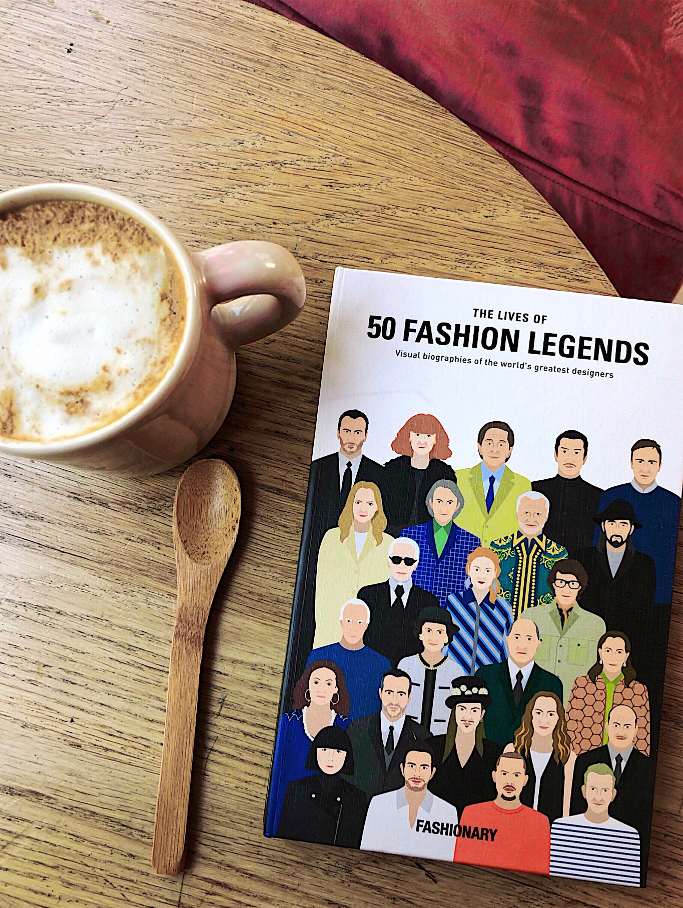 50 Fashion Legends book on the table