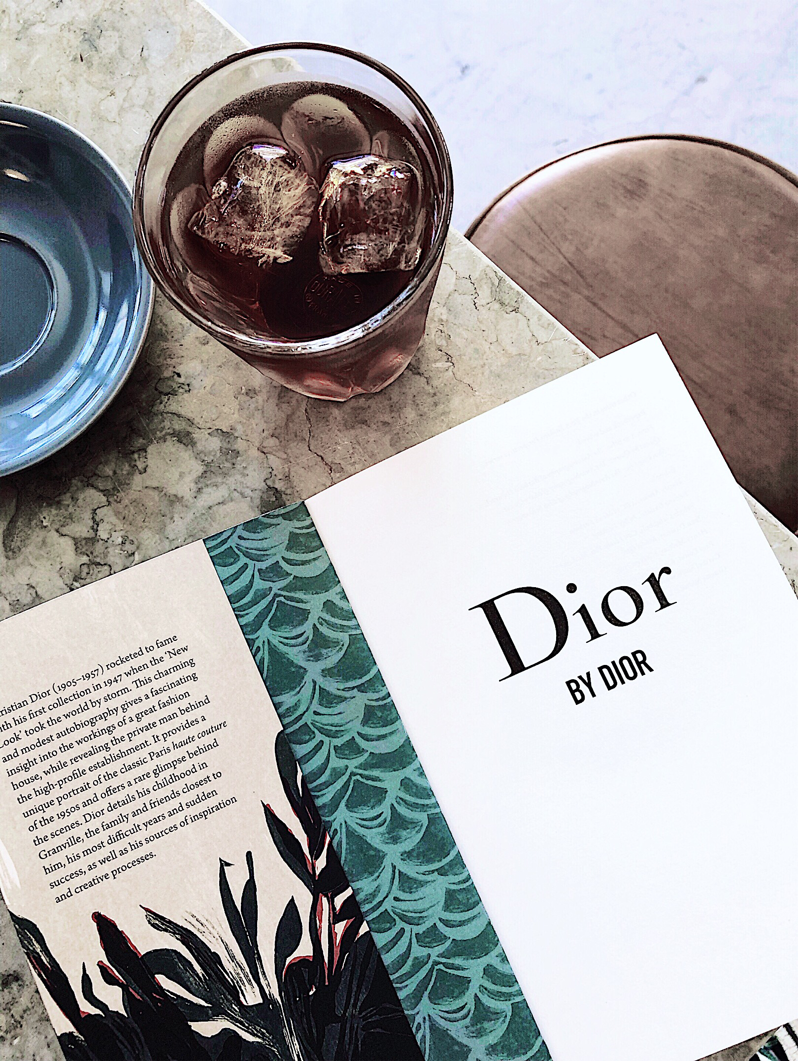 Dior by Dior book on the table