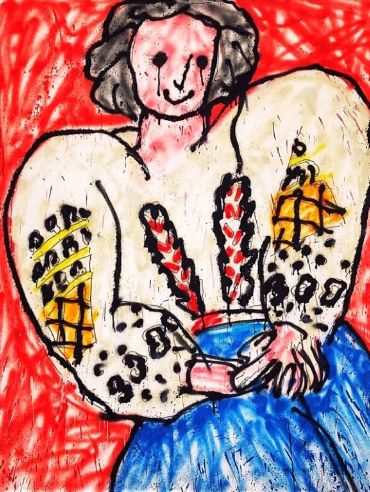 Madsaki artwork at Perrotin Gallery