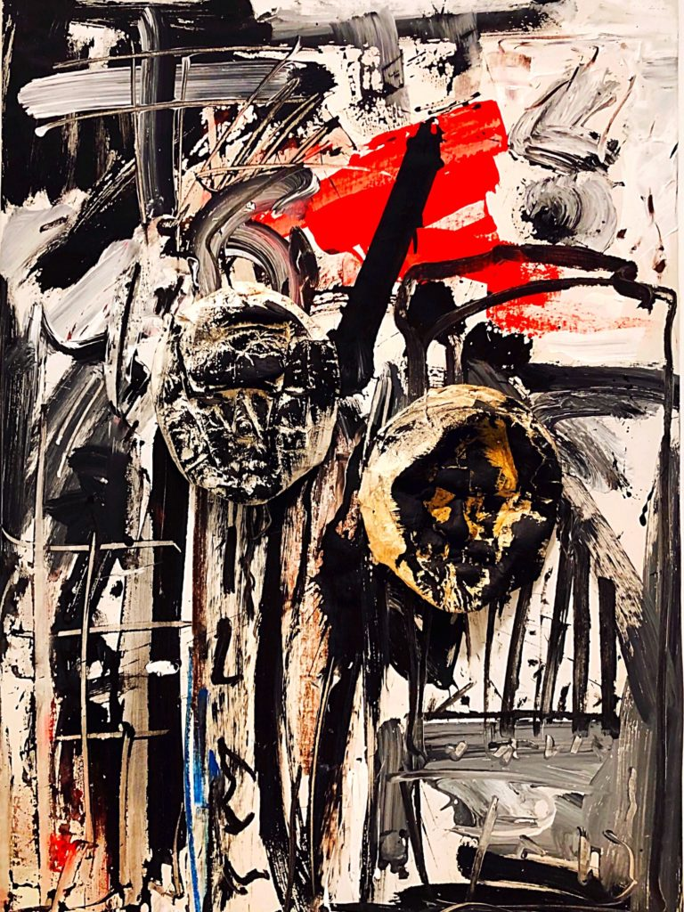 Emilio Vedova artwork at Ropac Gallery