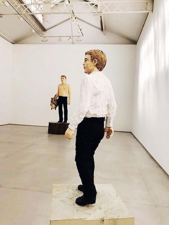 Stephan Balkenhol artworks at Ropac Gallery